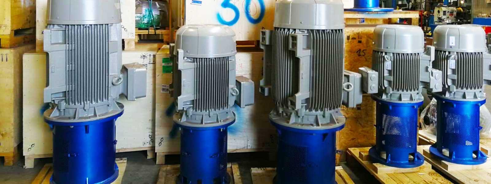 מנועים ציר מלא למשאבות טורבינה